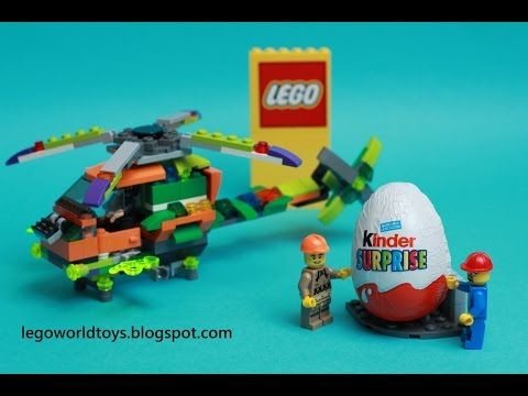 Lego Helicopter Speed Build And Opening Kinder Surprise Egg