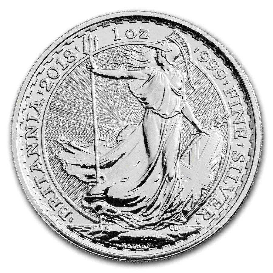 2018 Great Britain 1 Oz Silver Britannia Mintdirect Premier Silver Coins Silver Bullion Coins Coins
