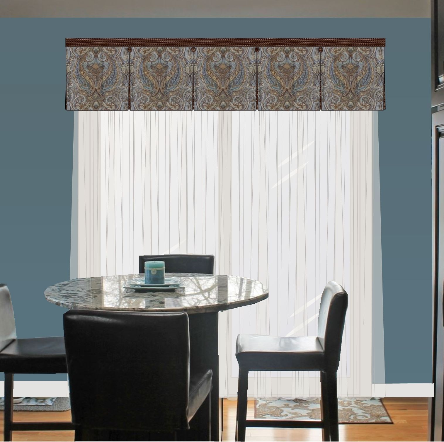 box pleated valance over sheers gmb designs gallery pinterest