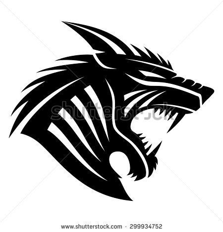 Pin By Juego De Tronos On Gaming Logi Werewolf Tattoo Tribal Drawings Werewolf