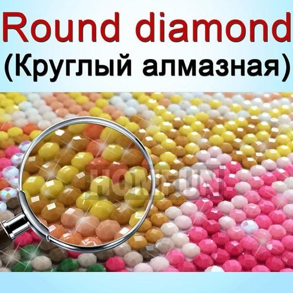 Photo of HOMFUN DIY PHOTO CUSTOM Diamond Painting Picture of Rhinestones Diamond Embroidery Beadwork 5D Cross Stitch 5D Home Decor|round drill|5d diy diamond5d diy – Round Drill / 30x40cm