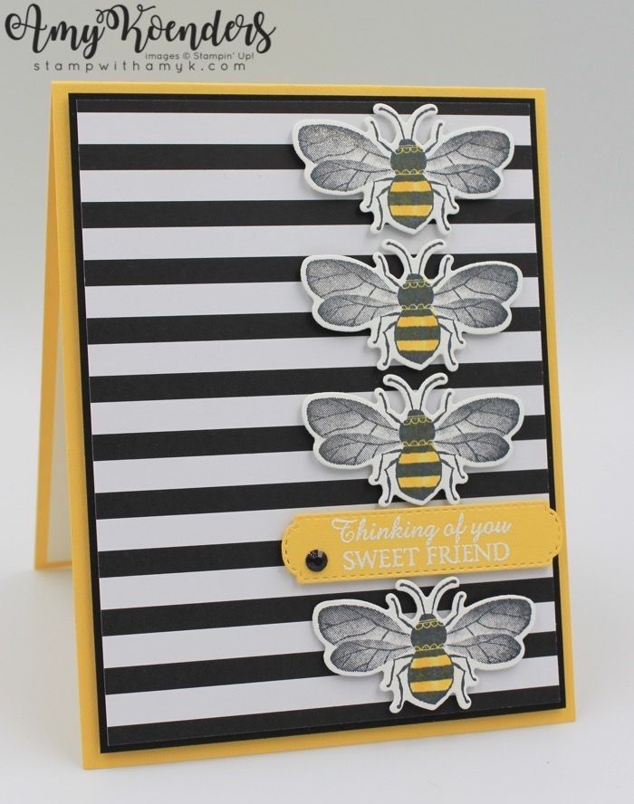Stampin' Up! Honey Bee Sweet Friend Card