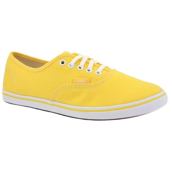 839c836a04 Vans Authentic Lo Pro VQES6K1 Womens Canvas Laced Trainers Yellow... (10 CAD