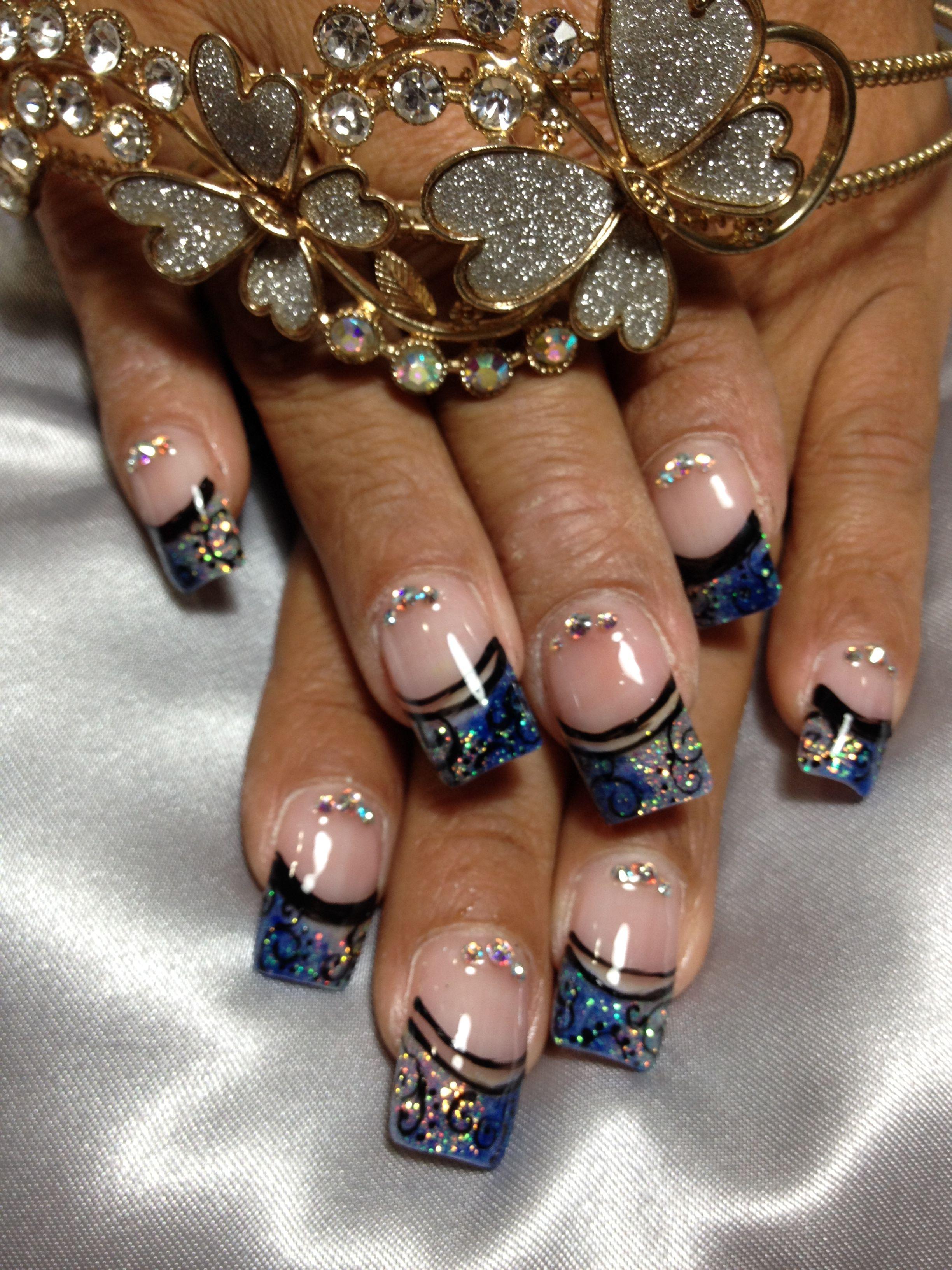 Acrylic nail designs nails by laura sandoval salón pinterest