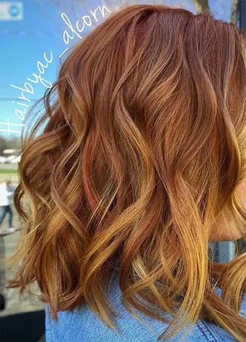 100 Dark Hair Colors Black Brown Red Dark Blonde Shades Strawberry Blonde Hair Color Strawberry Blonde Hair Hair Highlights