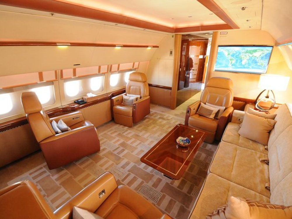 The Jumbo Jets Boeing And Airbus Turn Into Posh Private Planes Private Jet Interior Private Plane Interior Private Plane