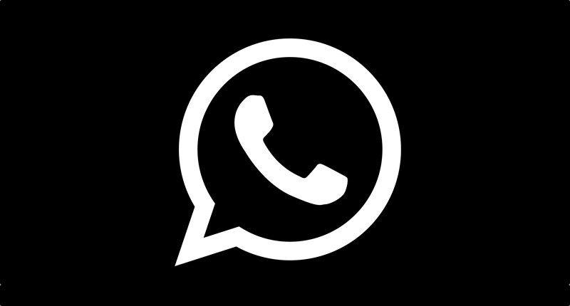 Whatsapp Widget Schwarz