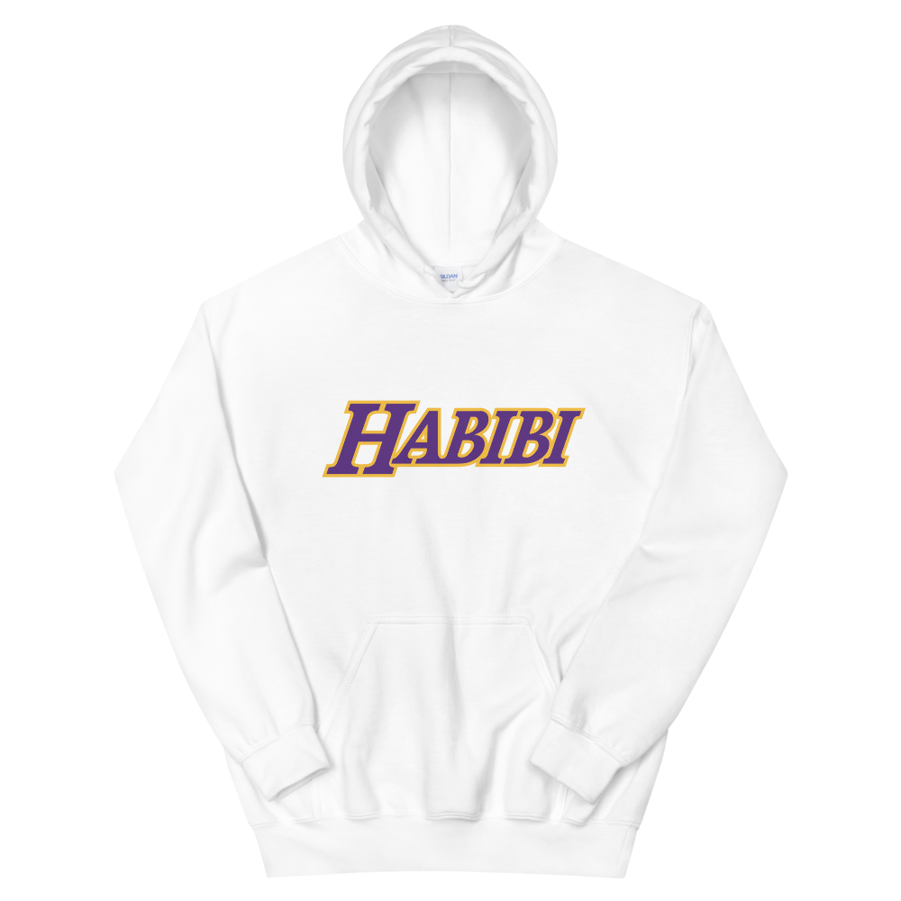 """Habibi is an Arabic word that literally means """"my love"""" sometimes also translated as """"my dear,"""" """"my darling,"""" or """"beloved.""""   Free Express Shipping! /Super high-quality printShipping time Australia:2 to7business days.Shipping time the U.S: 3 to7business days.Shipping time Europ:2 to7business days.    Everyone needs a cozy go-to hoodie to curl up in, so go for one that's soft, smooth, and stylish. It's the perfect choice for cooler eveni"""