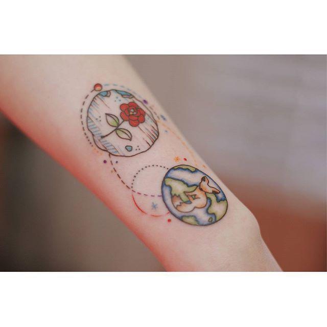 타투이스트서언(tattooistseoeon) @seoeontattoo 어린왕자를 주제로...Instagram photo | Websta (Webstagram)