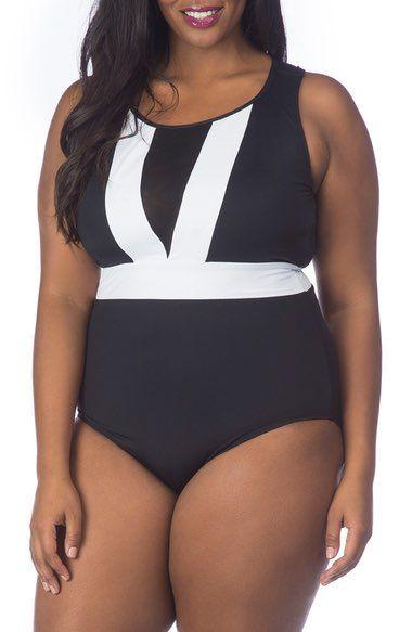 cb725d124e La Blanca Block My Way One-Piece Swimsuit (Plus Size | Plus Size One ...