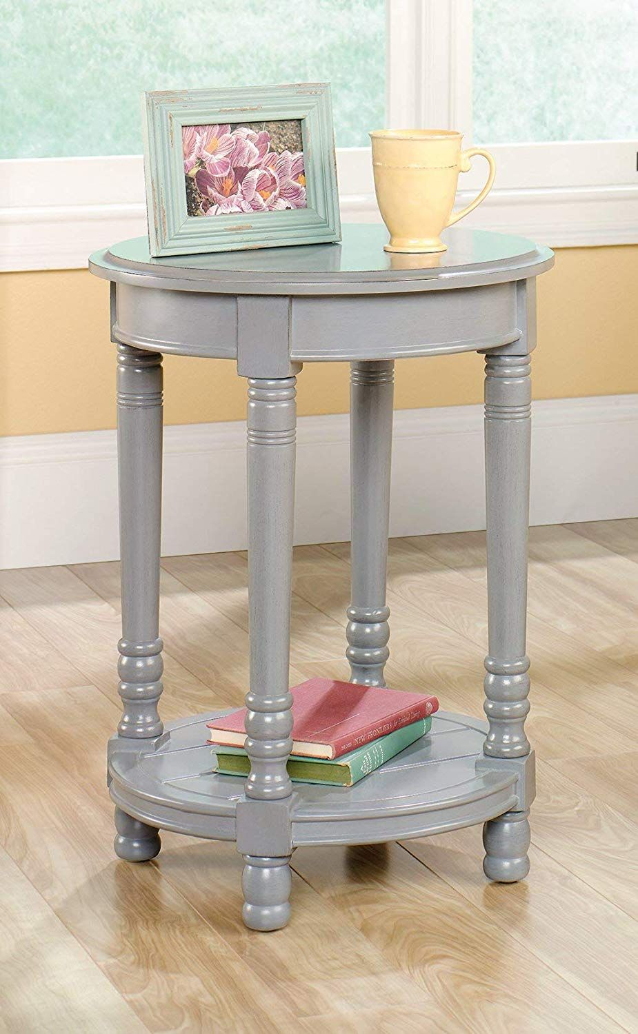 Country Side Table In Gray Finish In 2020 Side Table End Tables
