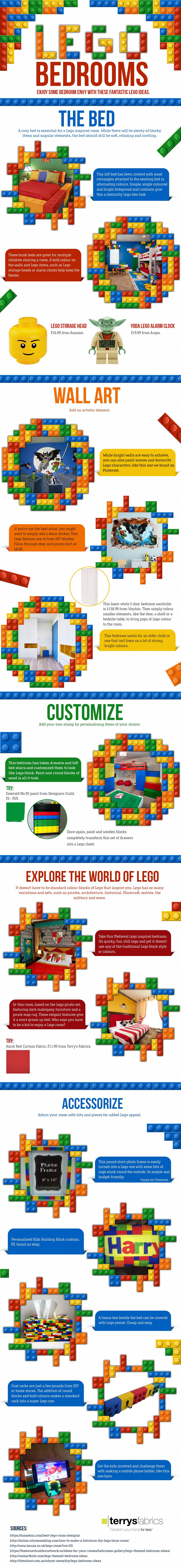 Lego Bedrooms #Infographic