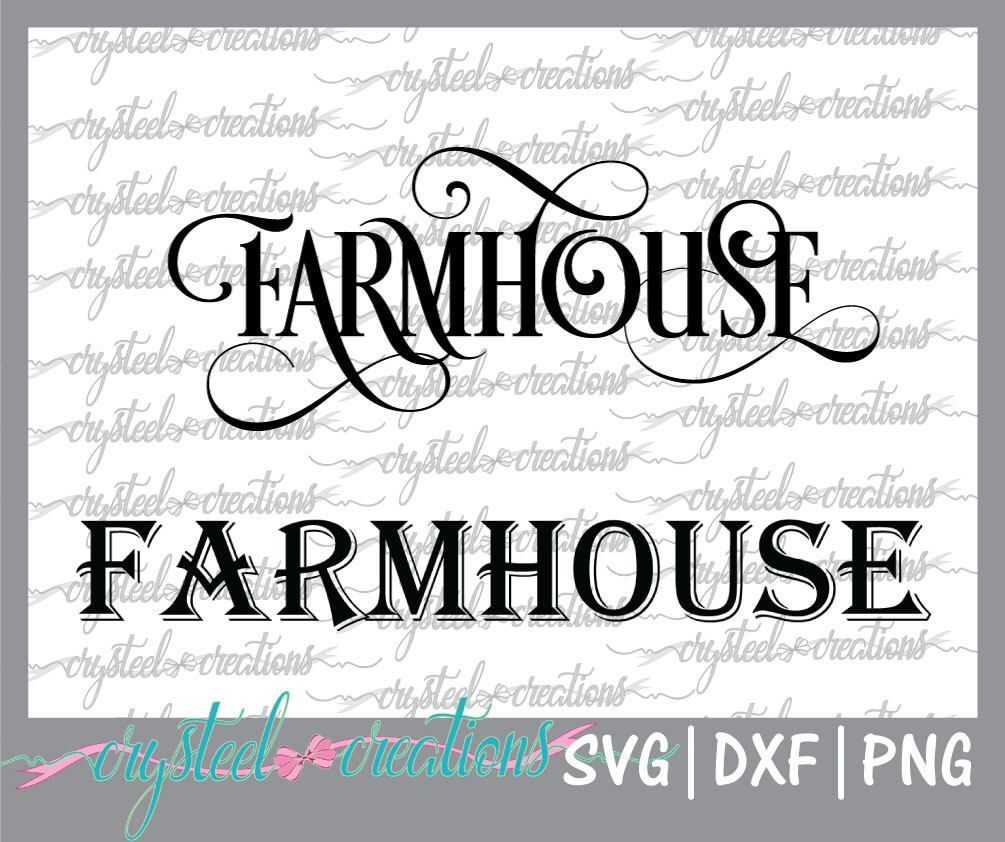 Farmhouse word SVG, PNG, DXF, Silhouette, Cricut