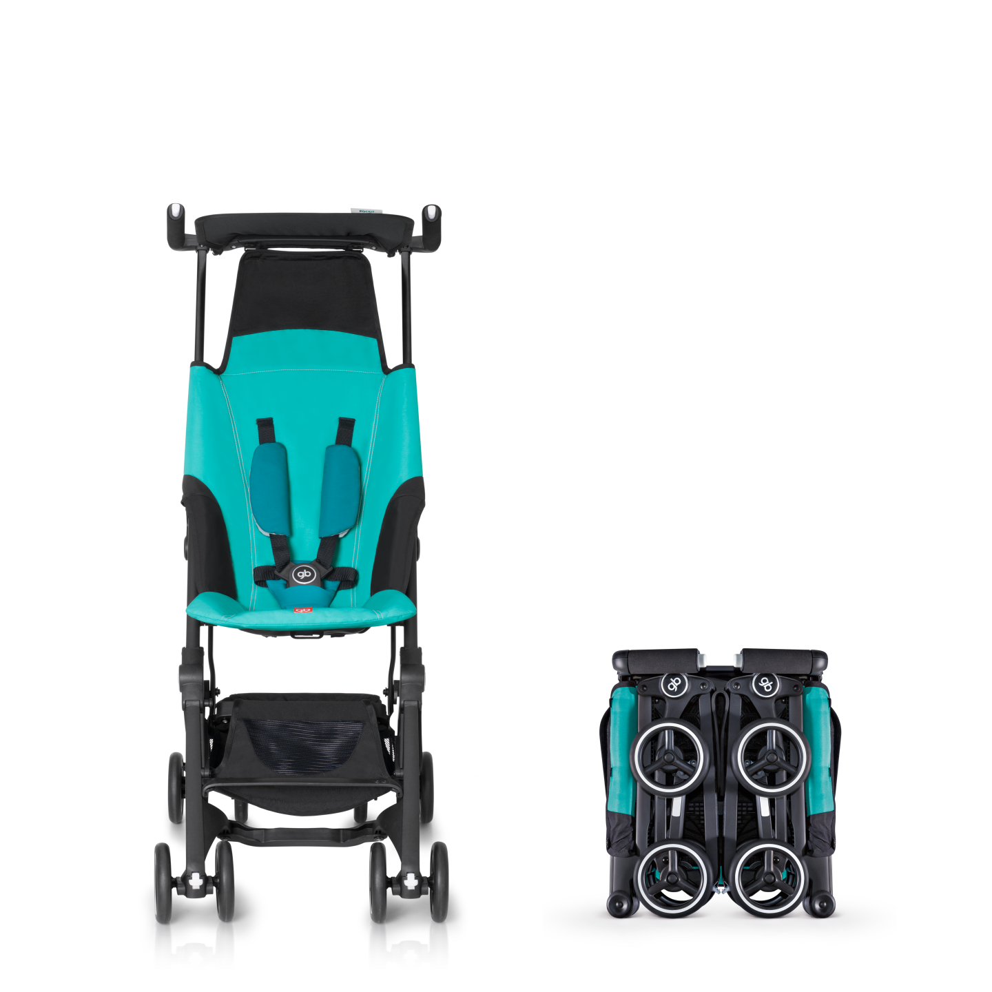 Goodbaby Pockit Stroller folds small enough to fit in
