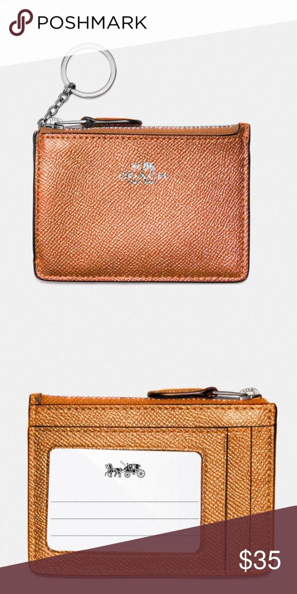 Mini Skinny ID Case Style F21072  Metallic Crossgrain