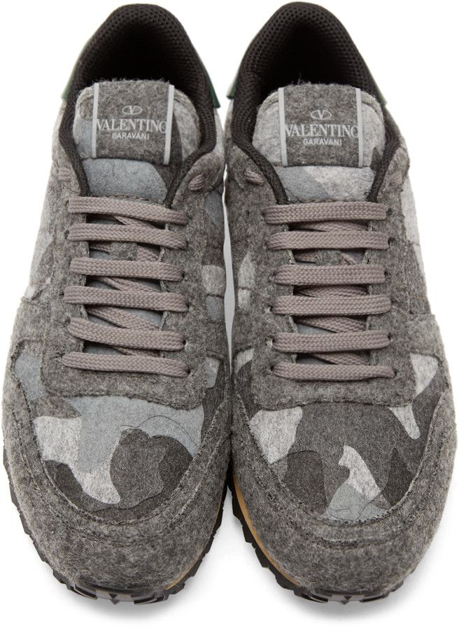 9ba5652f5a93d Valentino Grey Camo Flannel Sneakers | My Style | Sneakers fashion ...