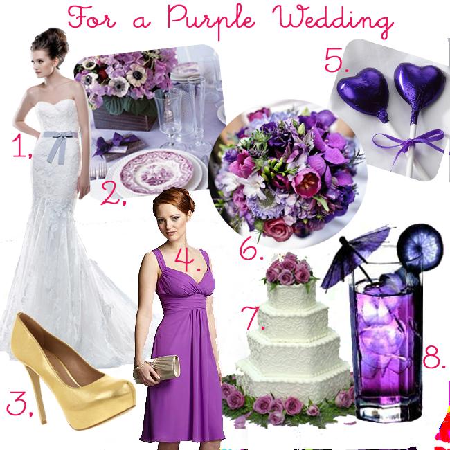 Three Little Búhos: purple themed wedding mood board