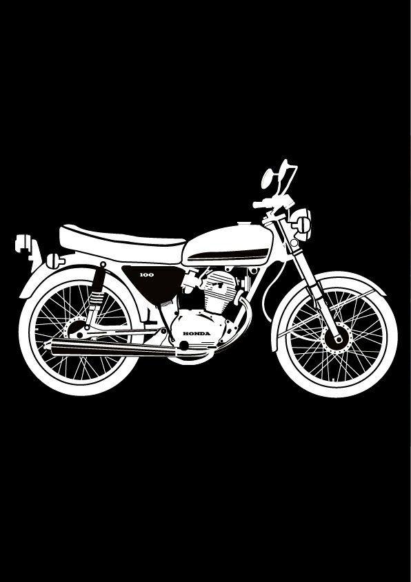 Cb 100 Sketsa Produk Sketsa Harley Davidson