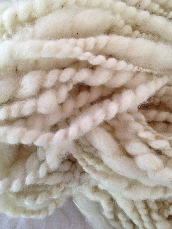 White Lightning wavy chunky art yarn two ply by girlwithasword, $48.00