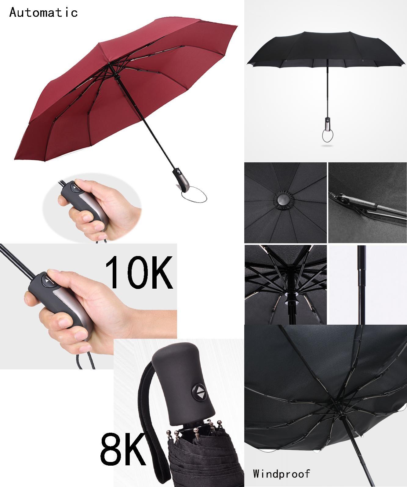[Visit to Buy] Fashion Automatic Women Umbrella Rain Anti Women Folding Male Umbrellas Guarda Chuva Parasol Paraguas Parapluie Sombrinha #Advertisement