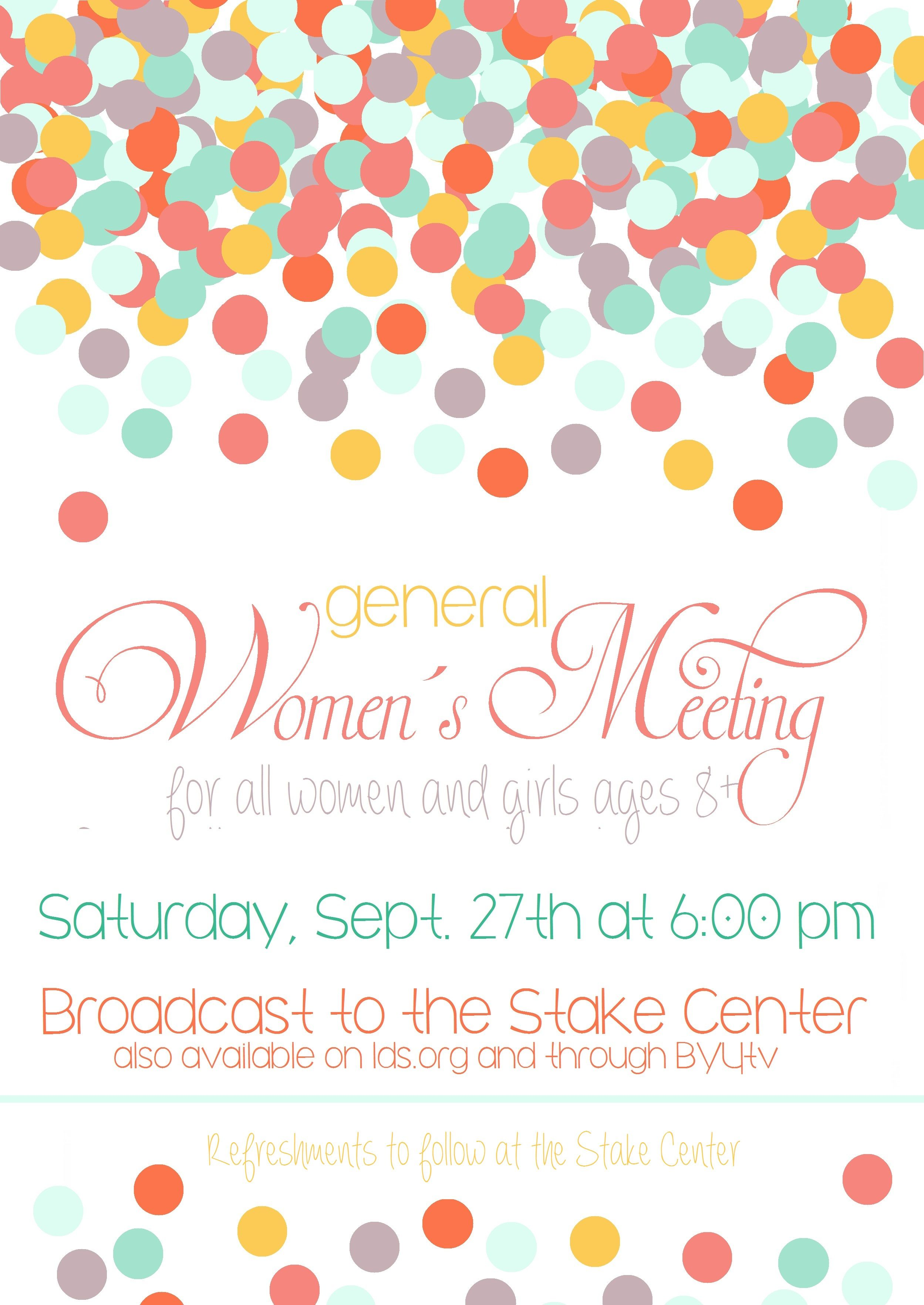 general womens meeting lds conference invitation poster invite september free use google doc link https