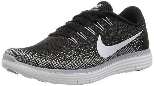 Nike Free Rn Distance De Deux Femmes Chaussures En Cours Dexécution Rideaux Gris / Noir