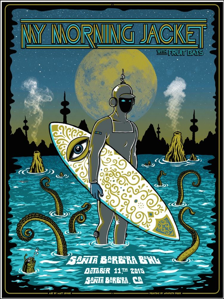 INSIDE THE ROCK POSTER FRAME BLOG: Matt Leunig My Morning Jacket ...