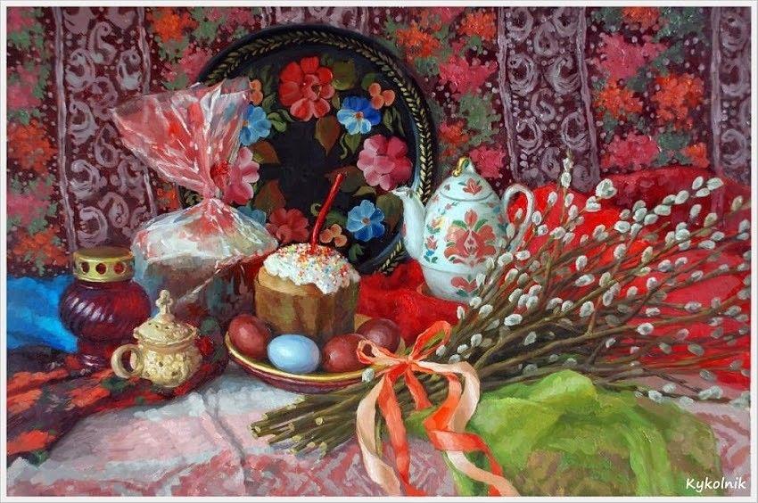 Красивые пасхальные картинки - нарисованные (15 рисунков ...