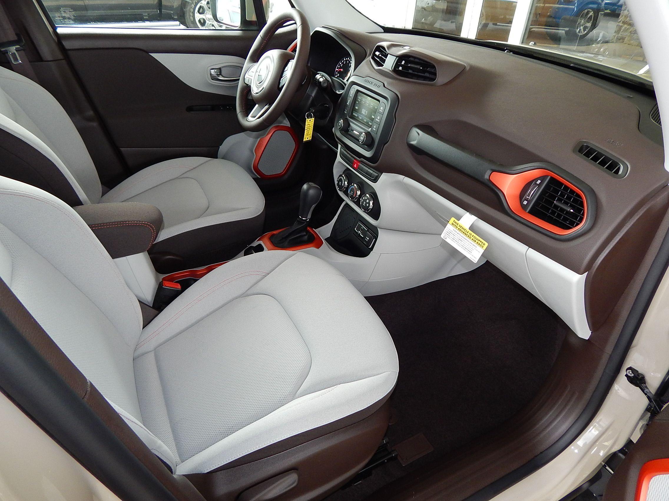 Stylish Bark Brown/Ski Gray interior of the 2015 Jeep ...