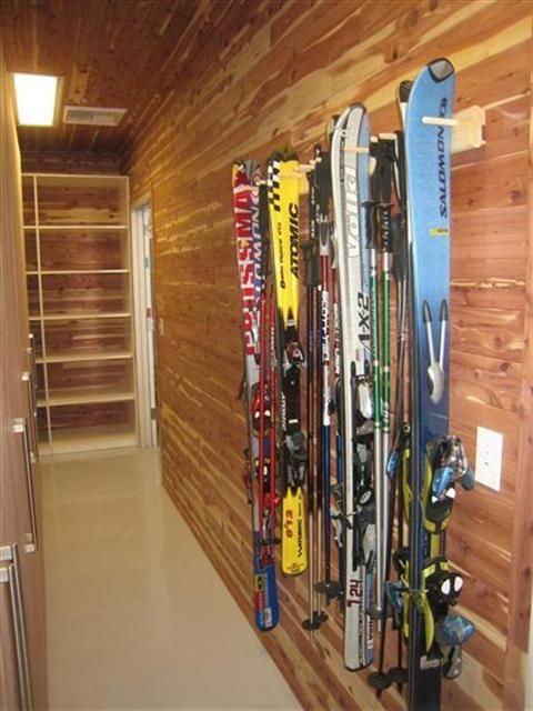 Cedar Closet With Custom Sports Rack