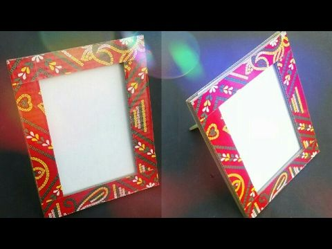 2 How To Make Diy Cardboard Photo Frame At Home Youtube How