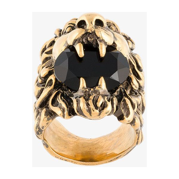 Gucci Lion Head Ring 600 NZD liked on Polyvore featuring mens