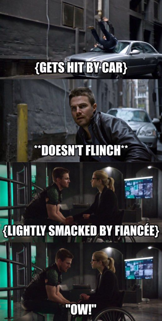 Olicity and they never seem to get hurt  Maybe every once and a
