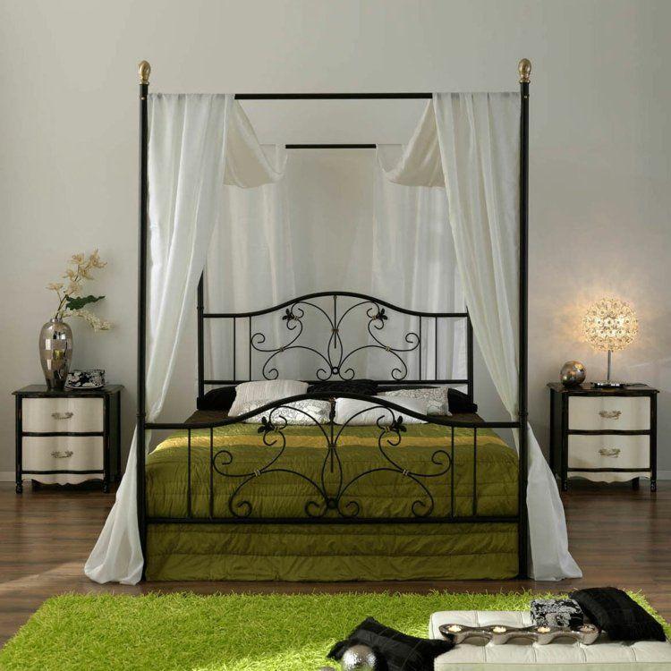 himmelbett f r ein modernes romantisches deko schlafzimmer. Black Bedroom Furniture Sets. Home Design Ideas