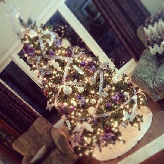 Purple And White Christmas Tree: My Christmas Tree This Year! Purple, White And Silver