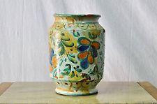 Antico vaso da farmacia in maiolica caltagirone sicilia 1800