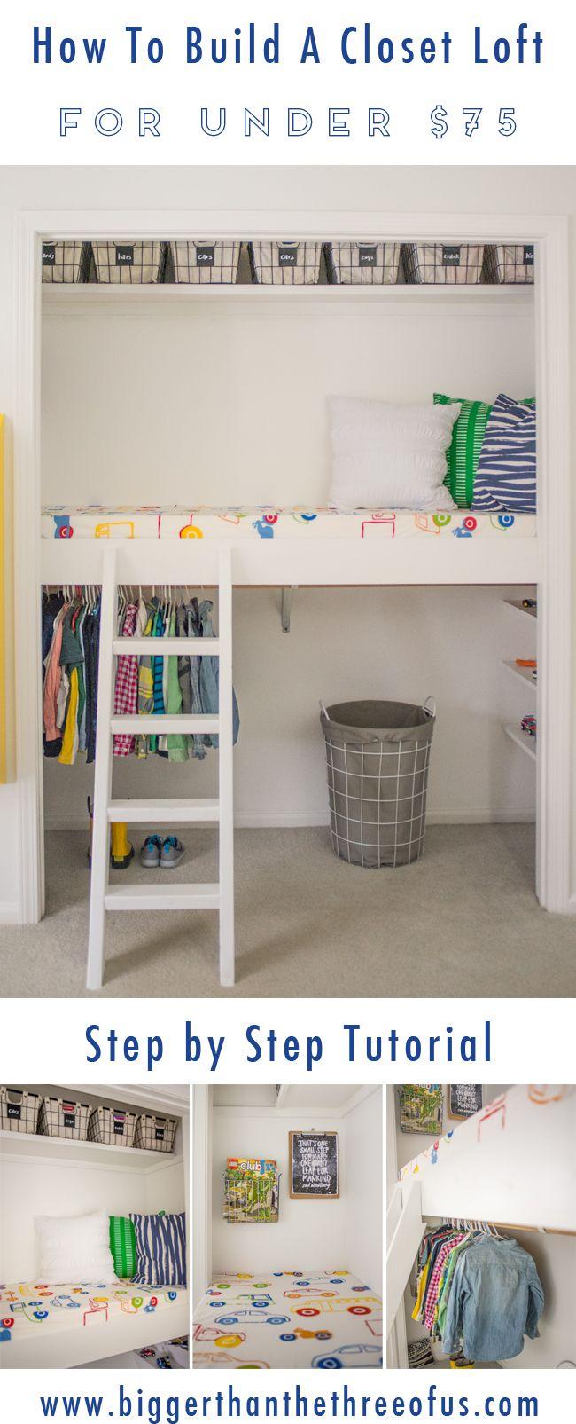 How to Build a Closet Loft  Build a closet, Book nook closet, Diy