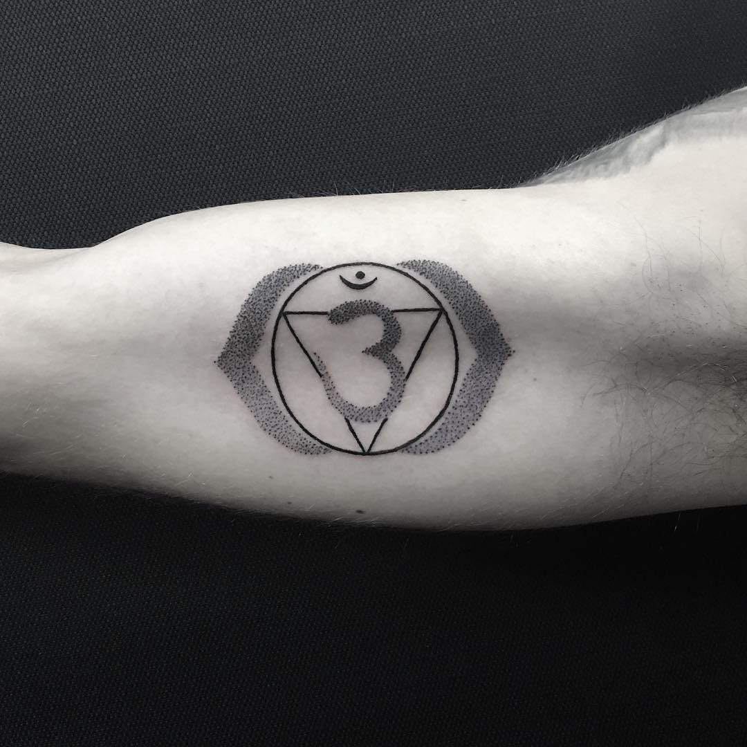 Third eye chakra tattoo for Allan this morning. Thanks ...