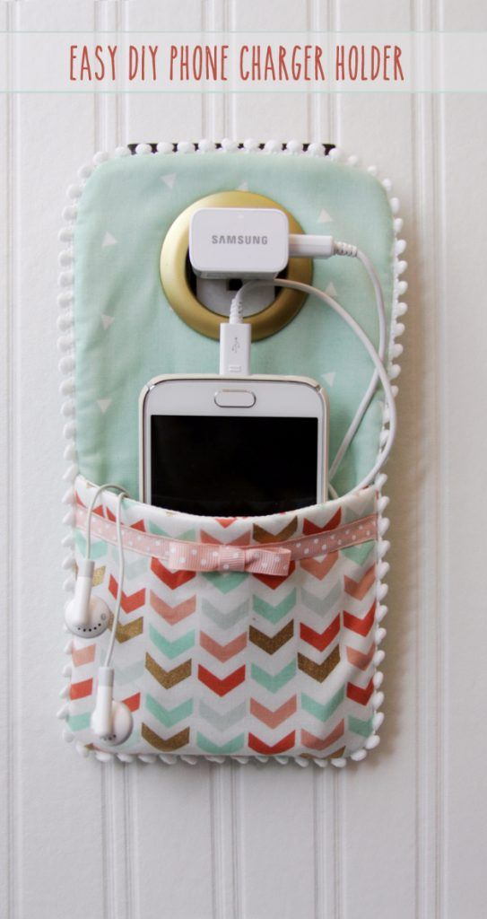Best Sewing Projects To Make For S Easy Diy Phone Charger Holder Creative