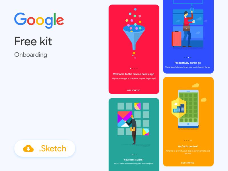 Google Onboarding Illustrations Sketch Resource Google Material Design Onboarding Google Material