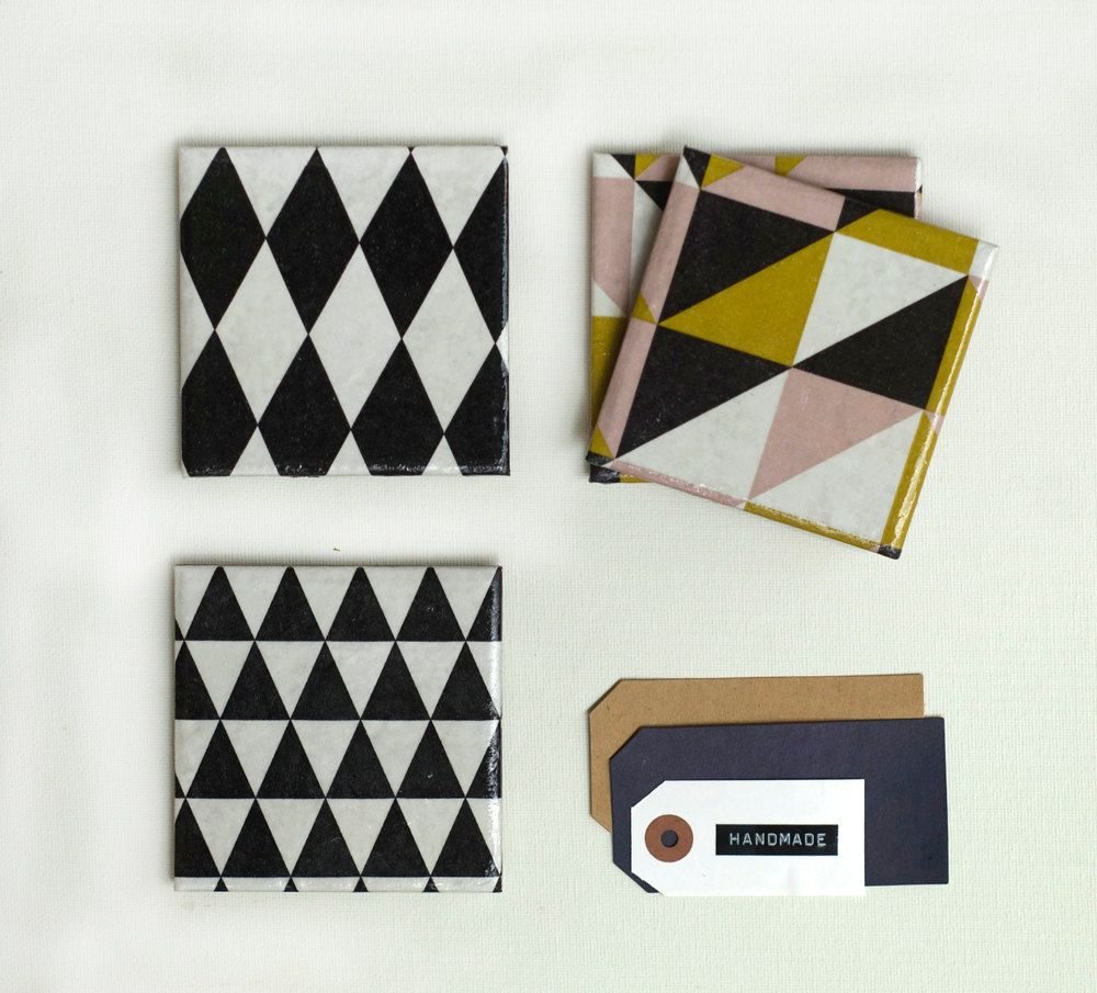 Geometry coasters triangle and harlequin ceramic coasters set of geometry coasters triangle and harlequin ceramic coasters set of 4 2500 via dailygadgetfo Image collections