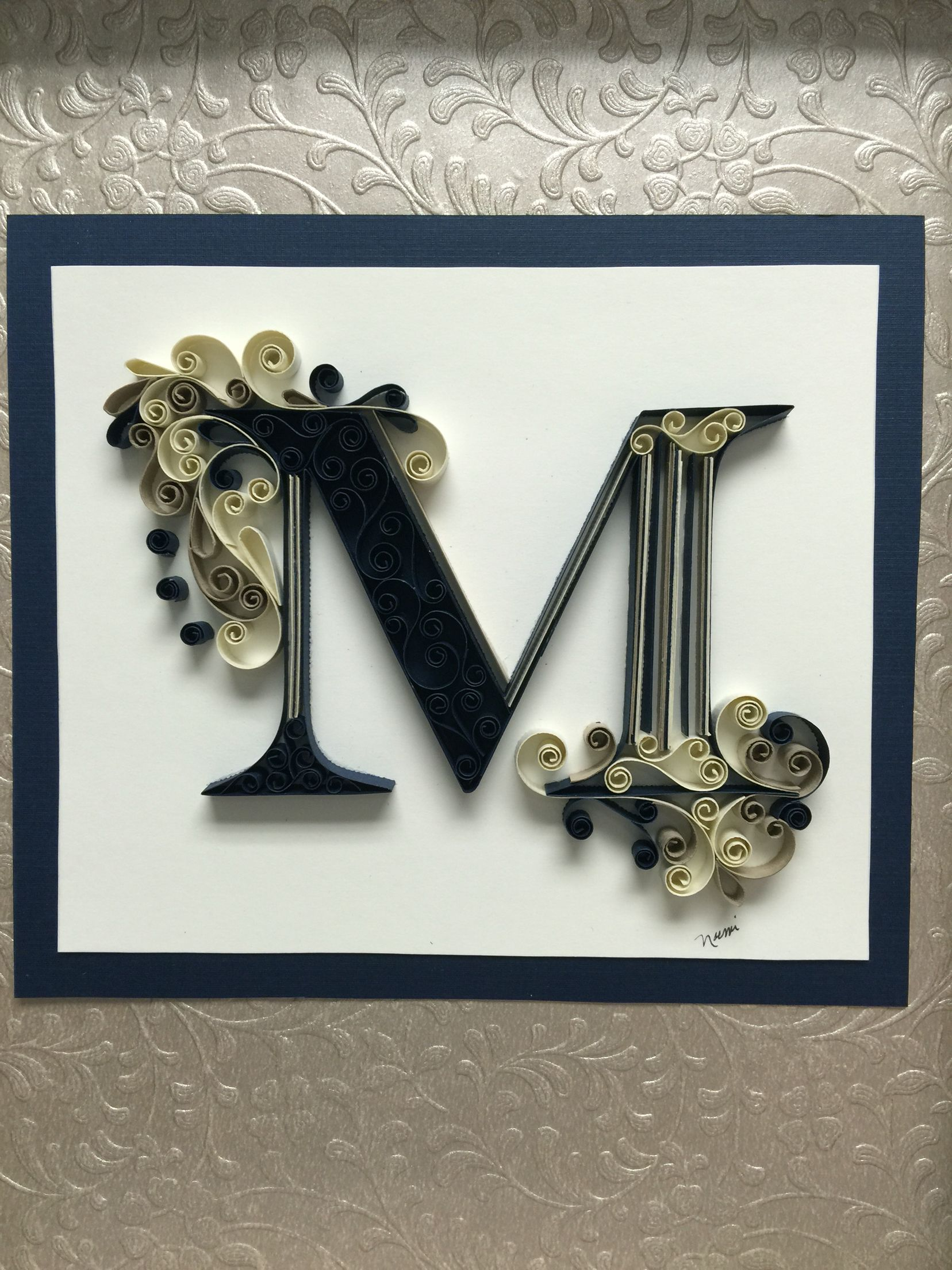 Letter M quilling