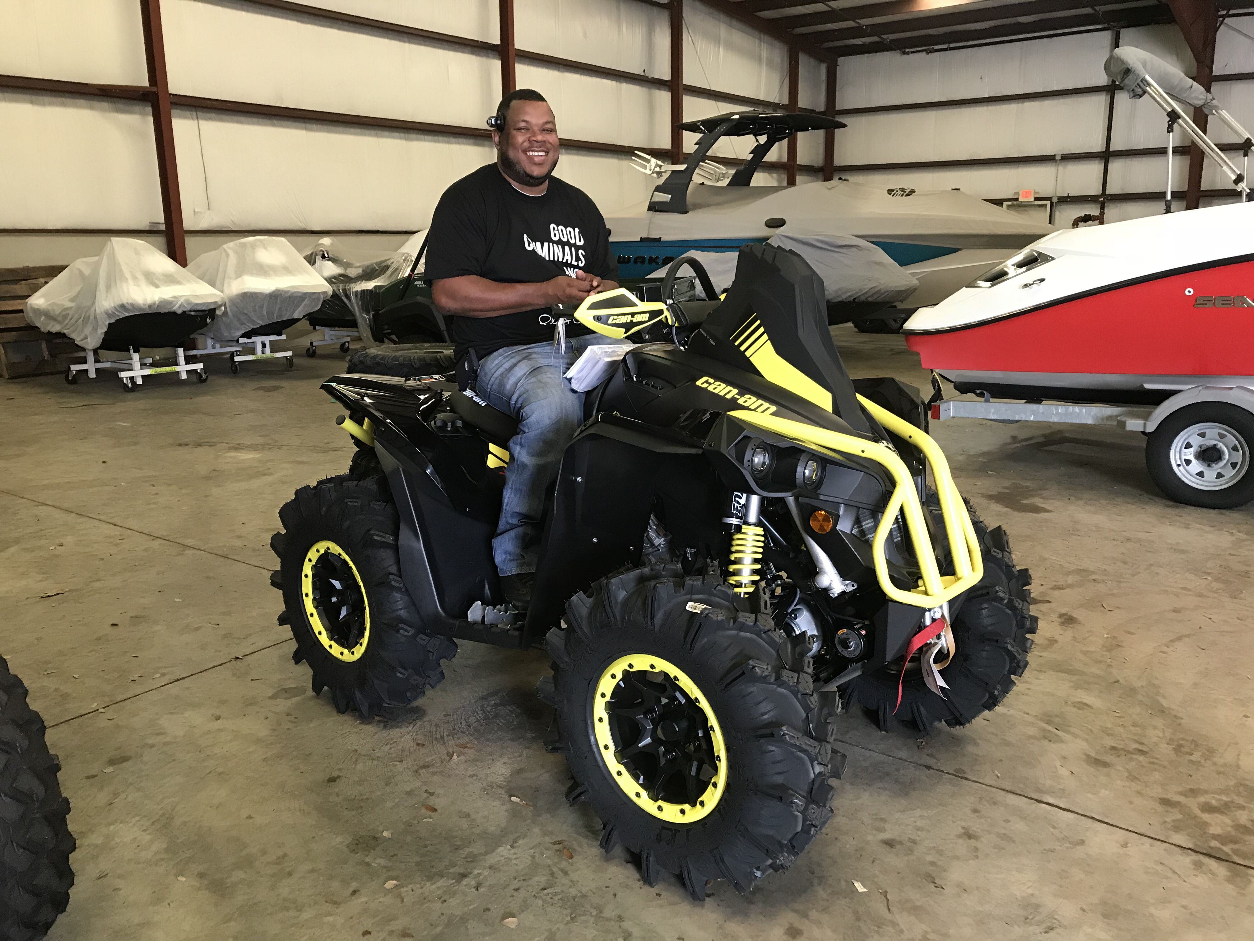 Thanks To Spoke From West Point Ms For Purchasing A 2018 Can Am Renegade Xmr 1000 At Hattiesburg Cycles Canam Monster Trucks Hattiesburg 4 Wheelers
