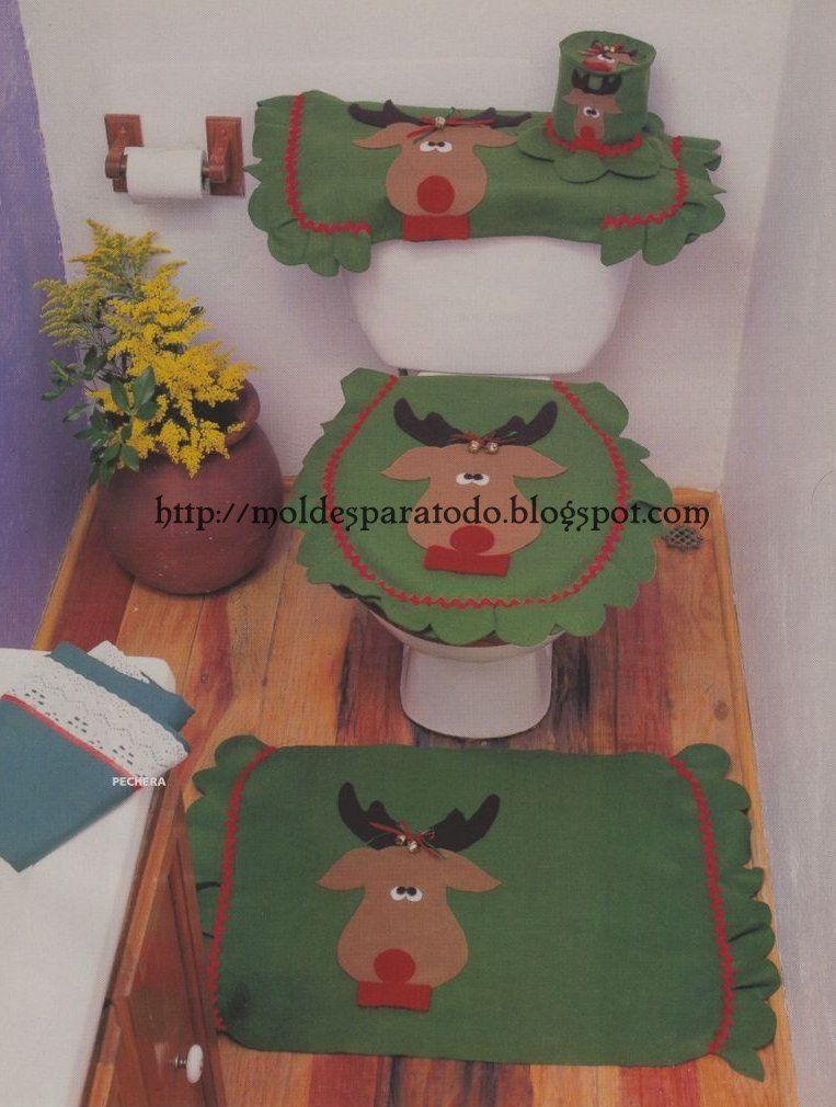 Juego de baño navideño.  Juegos de baño  Pinterest ...