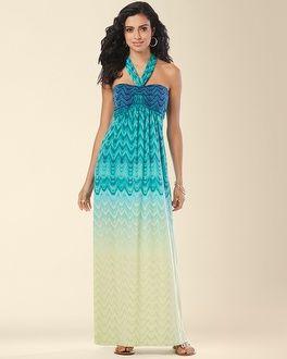 Soma Intimates Faye Maxi Dress Tile Ombre  Cowl Neck Dress Gradient Stripe #somaintimates