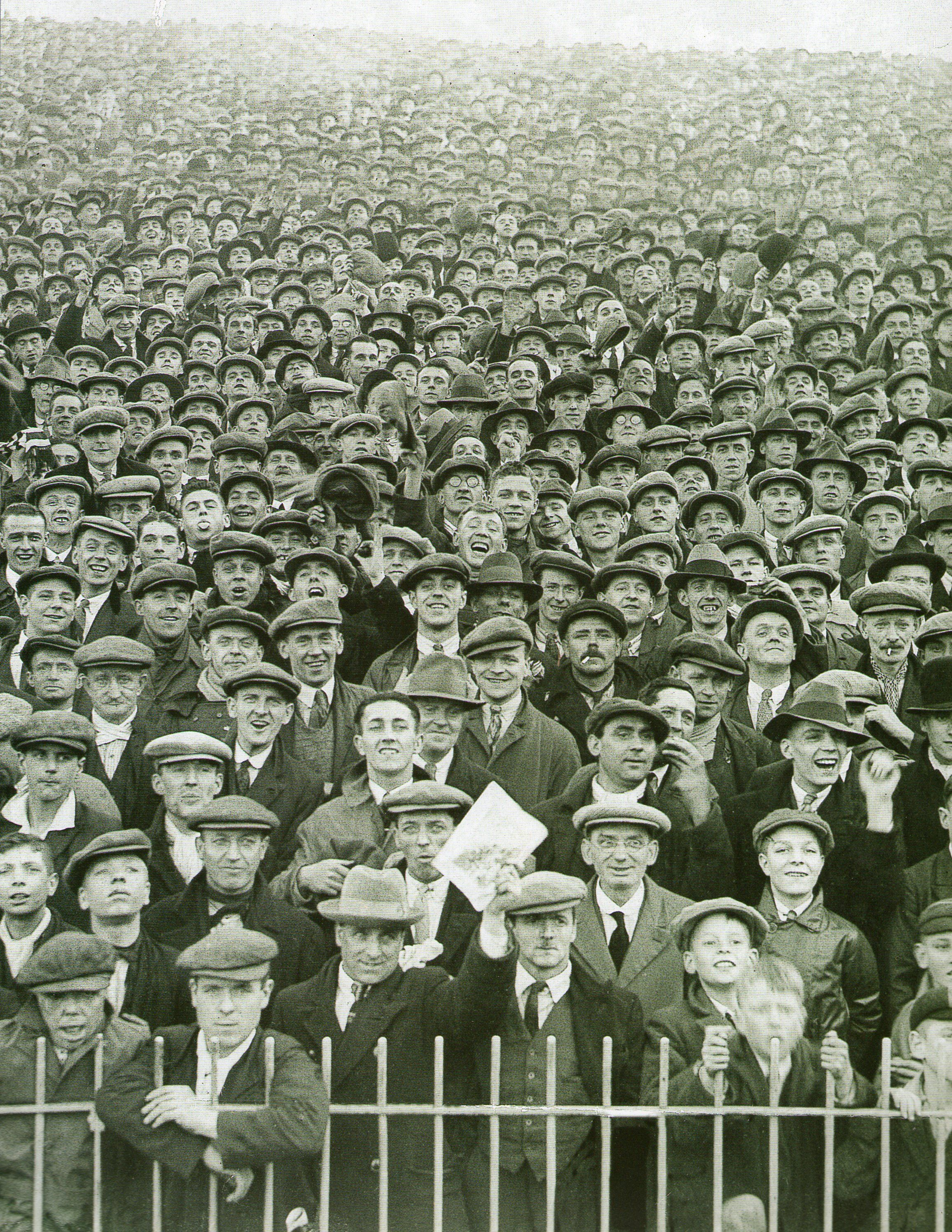 Image result for old photos of soccer crowds