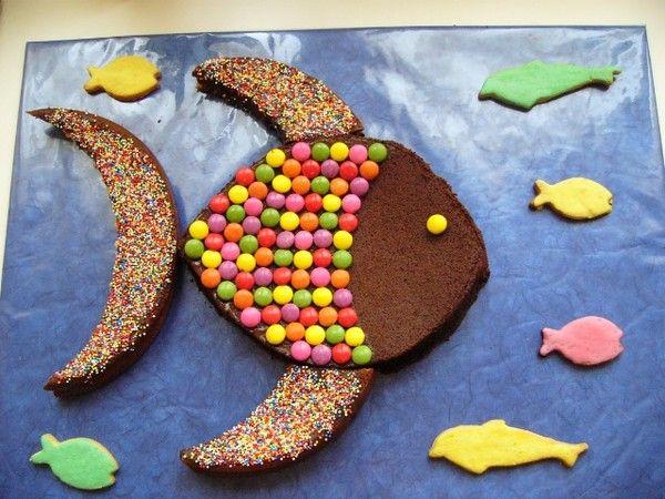 Gateau rigolo en poisson gateau rigolo rigolo et poissons - Recette gateau anniversaire enfant ...