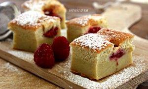 Torta magica ai lamponi | QUATTRO SALTI DA MINA