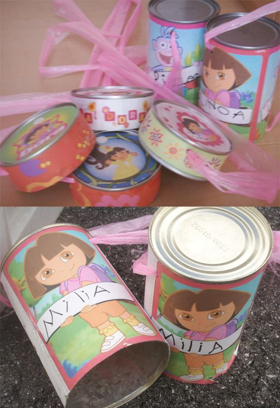 Let's play by walking with can :)  It is very pretty toy for pre-schoolers.  Just need Can, strings and pretty paper!   You can make like 5minutes.  You can use the party too.  #can #party idea