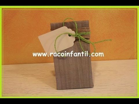 ▶ Ideas para decorar bolsas de papel: Parte I (www.racoinfantil.com) - YouTube